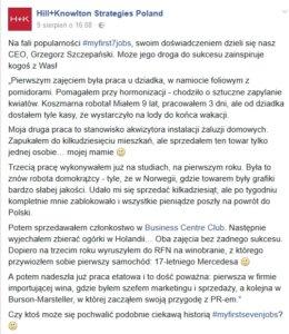 źródło: Facebook/Hill+Knowlton Strategies Poland