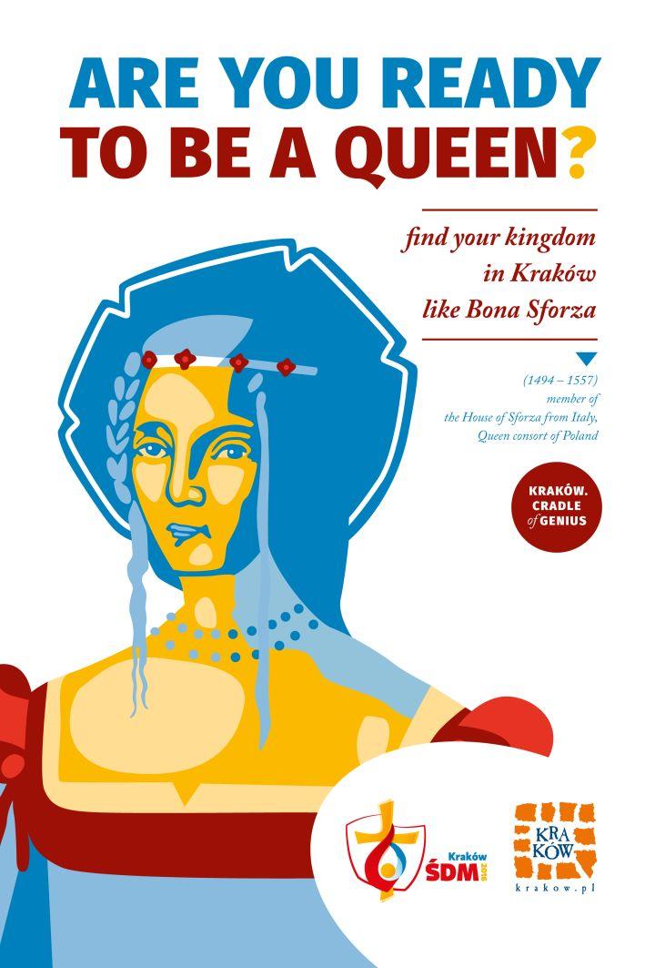 "Plakat kampanii ""Kraków. Cradle of Genius"""