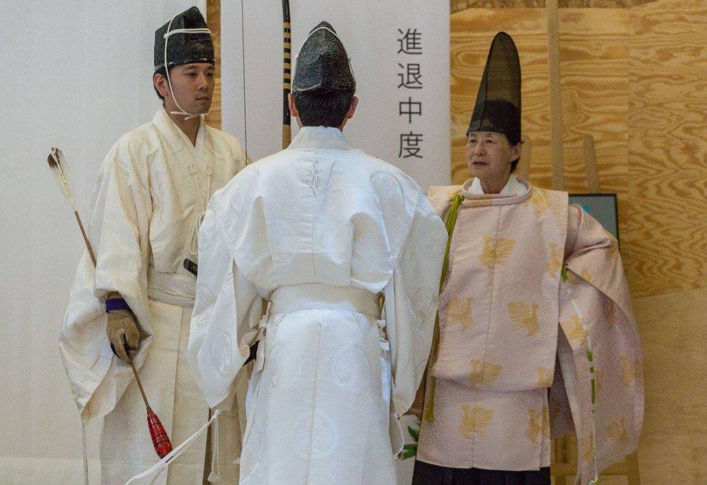 Kiyamoto Ogasawara w łuczniczym stroju rytualnym. Fot. Marek Korbecki/ Ogasawara Ryu
