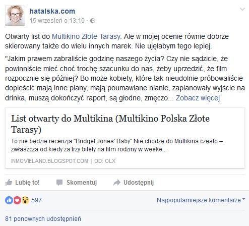 fot. print screen facebook/hatalskacom