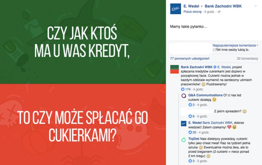 fot. print screen, Facebook/E.Wedel