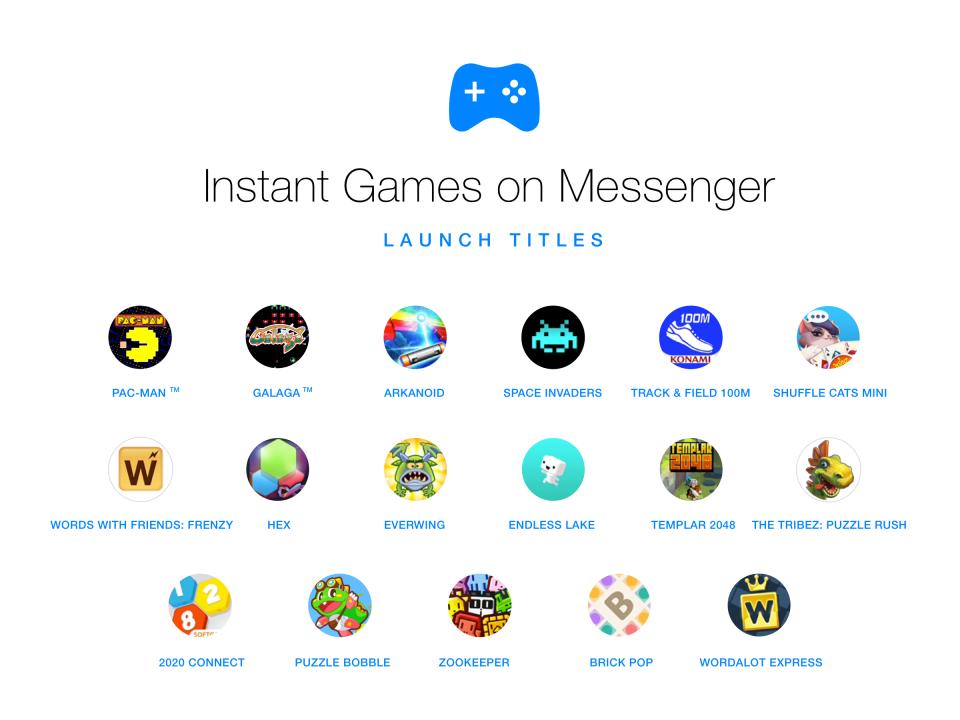 Lista gier w komunikatorze Messenger