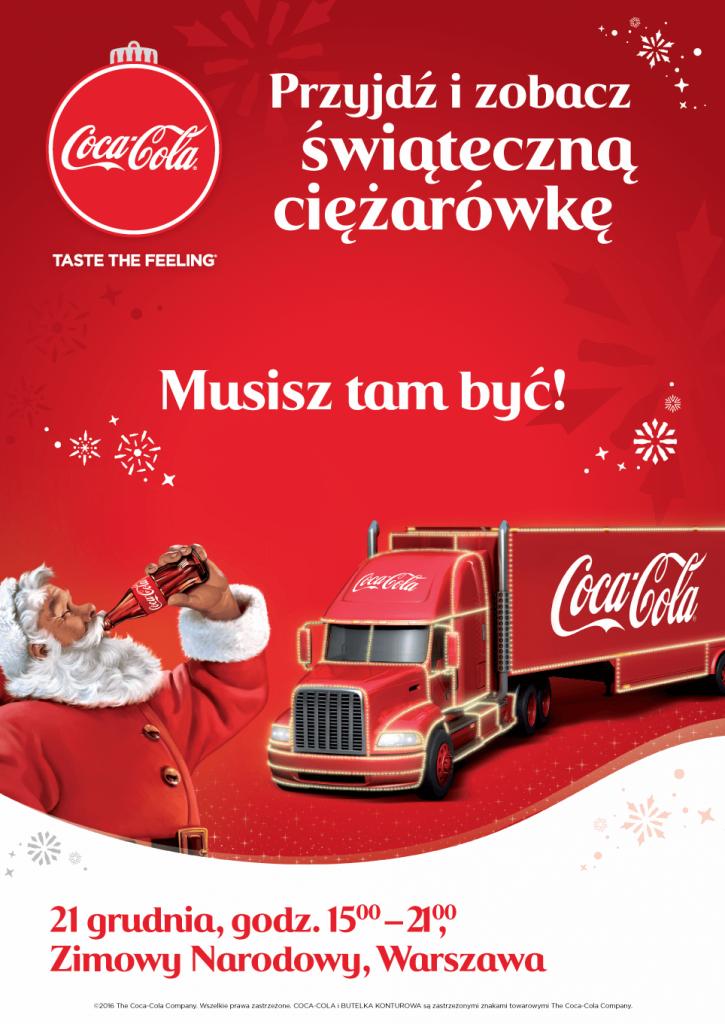 świąteczną trasę ciężarówek Coca-Cola