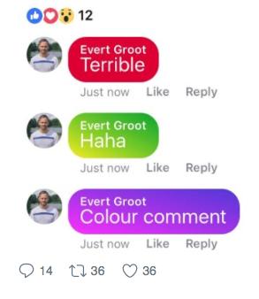 kolorowe komentarze Facebook