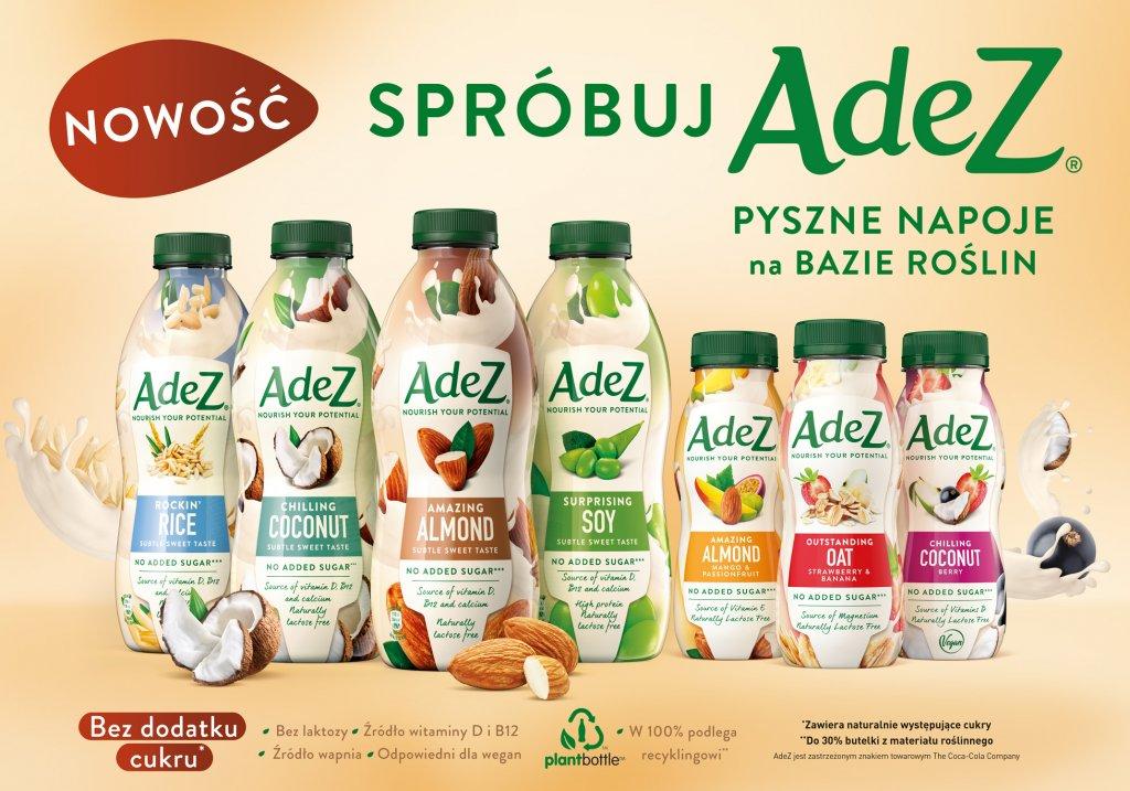 Coca-Cola wprowadza na polski rynek markę AdeZ®, debiutując i wyznaczając trendy w segmencie napojów na bazie roślin